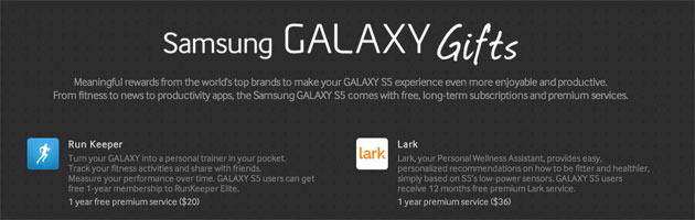 Samsung Galaxy S5 comes with premium app subscriptions worth over $500