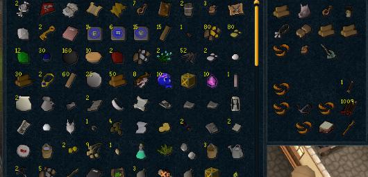 RuneScape inventory screenshot