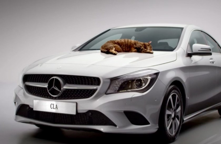 Mercedes-Benz, CLA, TV-spot, cat, Katze, witzig, listig lustich, komisch, witzig Mercedes CLA, ad, commercial, promo, funny, video