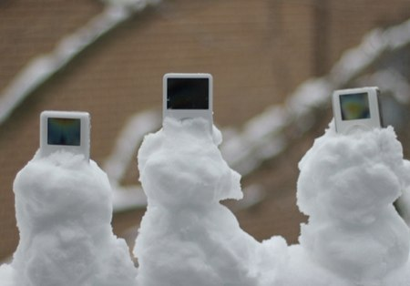 iPods stuck in the snow