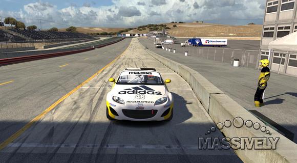 iRacing Laguna pit lane