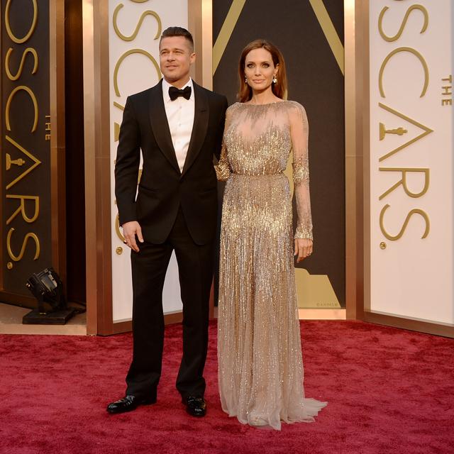 Oscars 2014 Brad Pitt and Angelia Jolie