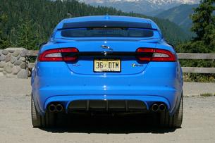 2013 Jaguar XFR-S rear view