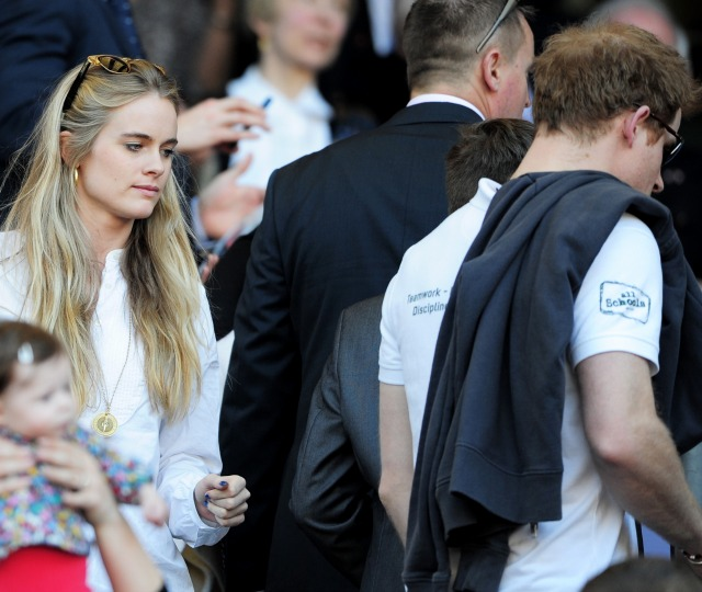 Cressida Bonas and Prince Harry at Twickenham
