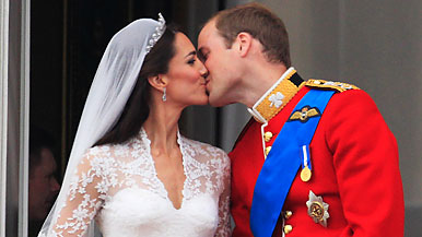 Princess Catherine and Prince William Kiss