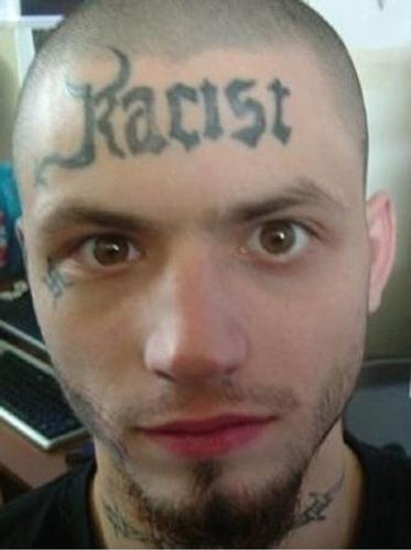 worst face tattoos racist