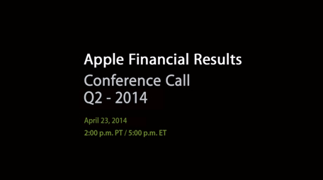 Apple financial conference call