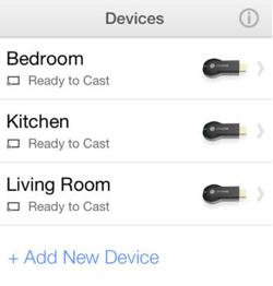 Chrome Cast for iOS