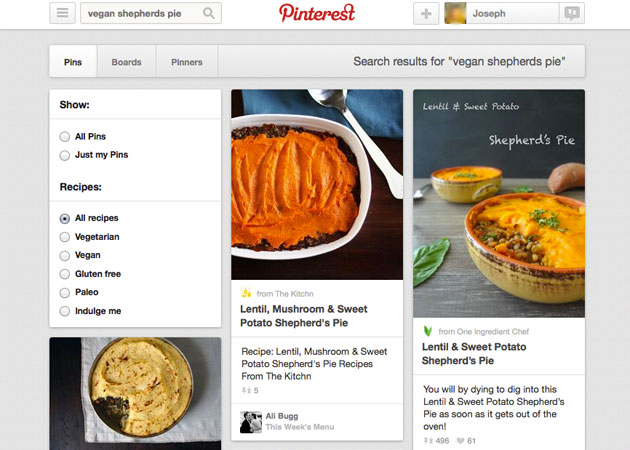 Pinterest Recipe Search Makes The Joy Of Cooking Easy To Pin Down Engadget