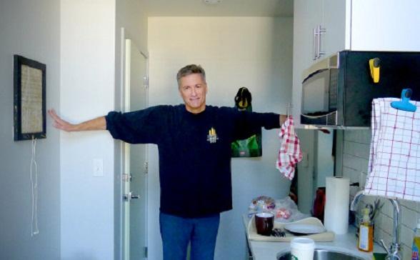 peter miller in micro-apartment
