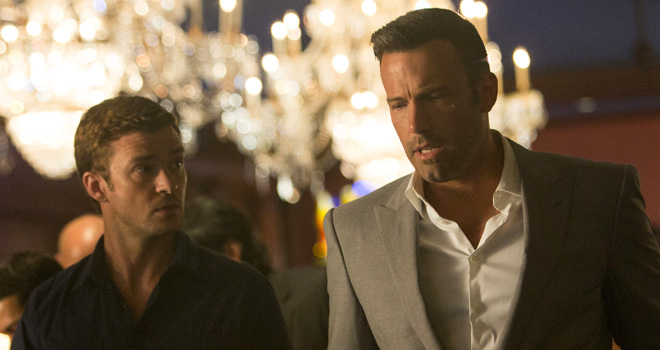 Justin Timberlake and Ben Affleck in 'Runner, Runner'
