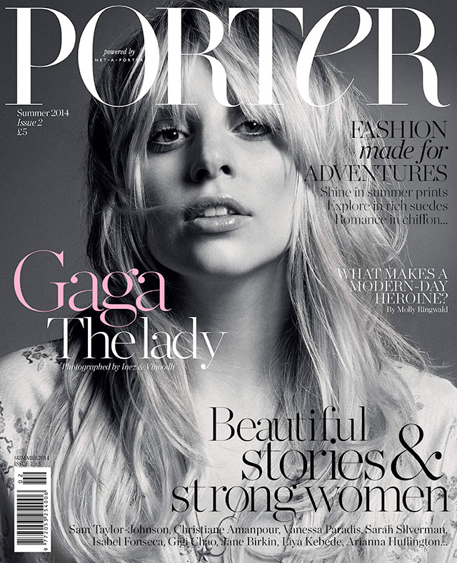 lady gaga for porter magazine