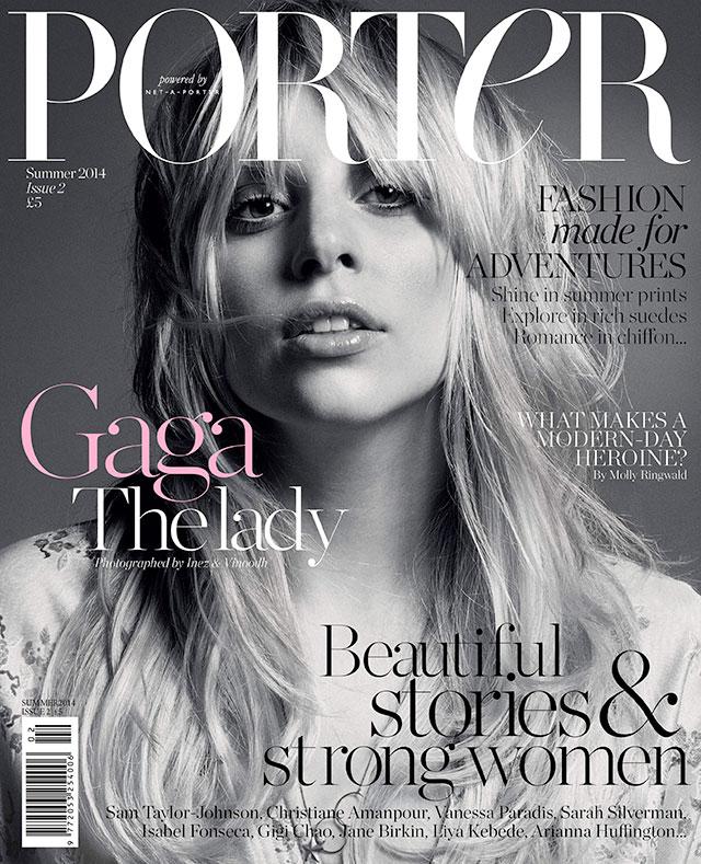 lady gaga for porter magazine