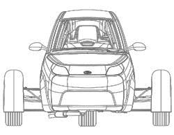 Elio Motors vehicle sketch