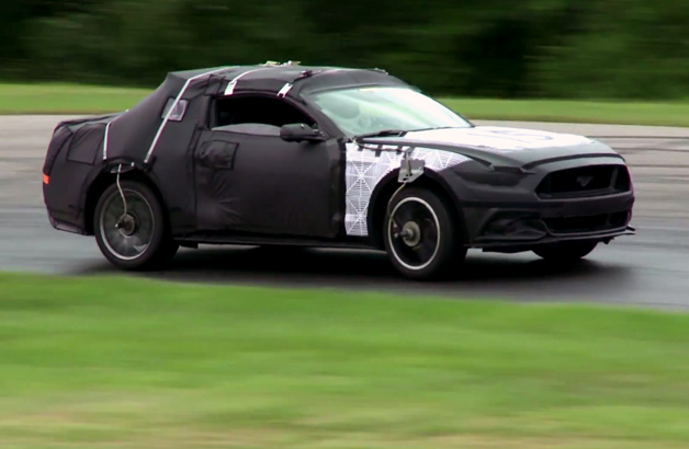 2015 ford mustang spy shot video