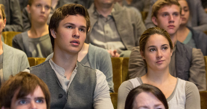 Ansel Elgort and Shailene Woodley in 'Divergent'