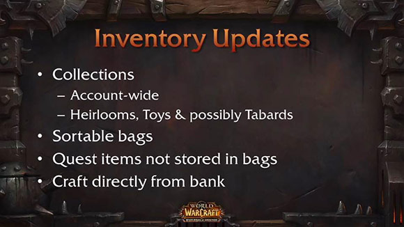 Inventory updates for Warlords of Draenor