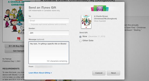 Mac 與 iOS 使用者現在可將 iBooks 電子書當禮品贈送囉!還能附上祝福訊息呢