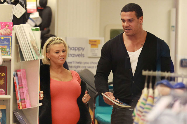 Pregnant Kerry Katona baby shopping