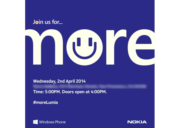 Nokia's April 2nd event invitation