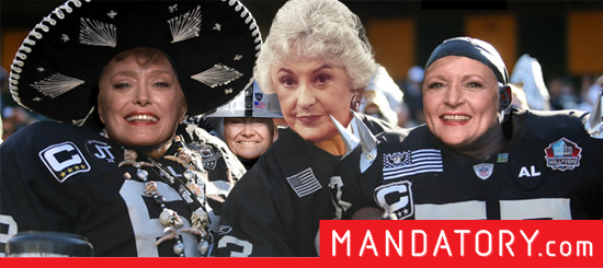 golden girls as raiders fans