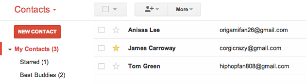 You can now star Google Contacts, just like important messages in Gmail