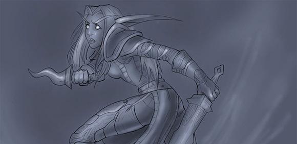 Detail of Resanne of Arathor by Astrid Hansen