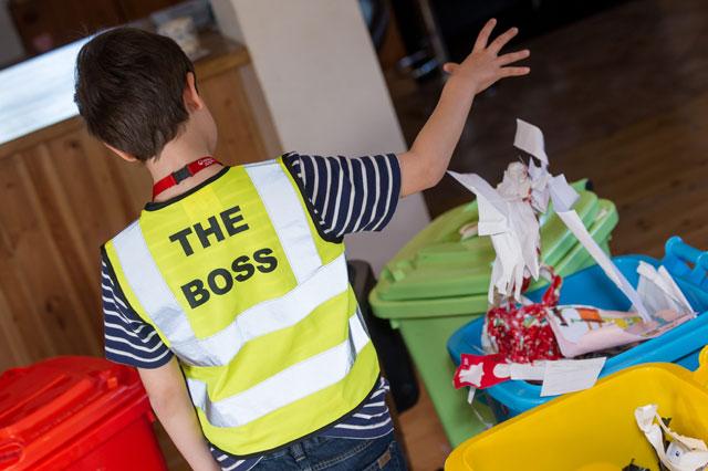 Boy buys toy rubbish lorry on eBay