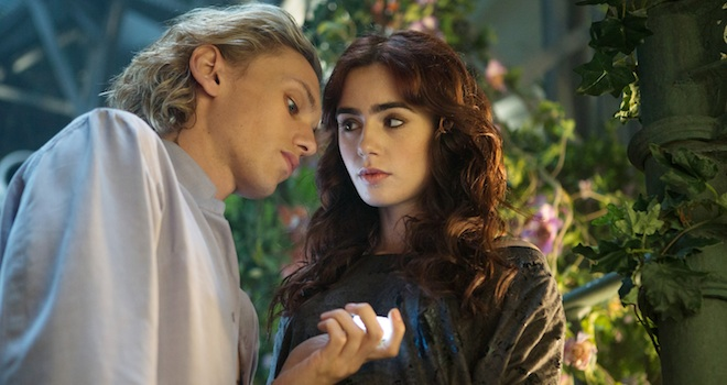 Jamie Campbell Bower, Lily Collins, THE MORTAL INSTRUMENTS: CITY OF BONES
