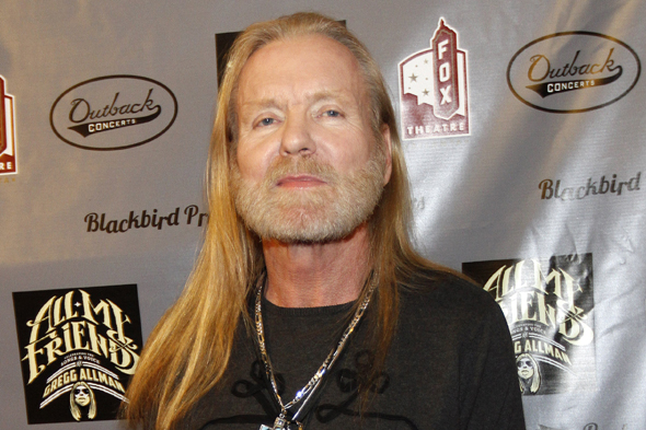 Gregg Allman walks the red carpet at All My Friends: Celebrating The Songs and Voice of Gregg Allman on Friday, Jan. 10, 2014 in Atlanta. (Photo by Dan Harr/Invision/AP)