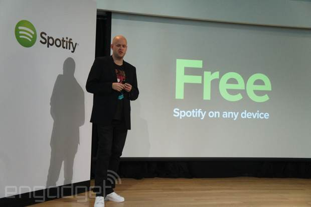 Spotify goes free on mobile devices through the magic of shuffling