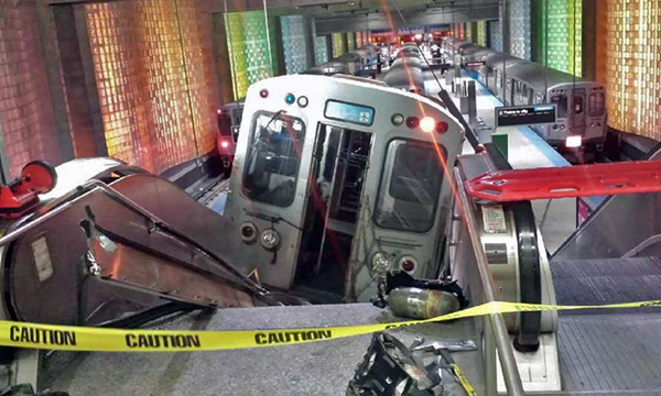 O'Hare International Airport Chicago train derailment