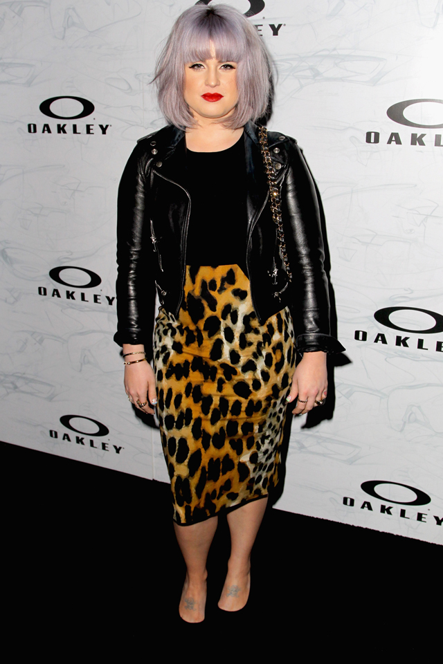 Kelly Osbourne style fashion leopard print