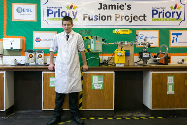 Schoolboy, 13, youngest in world to build a fusion reactor