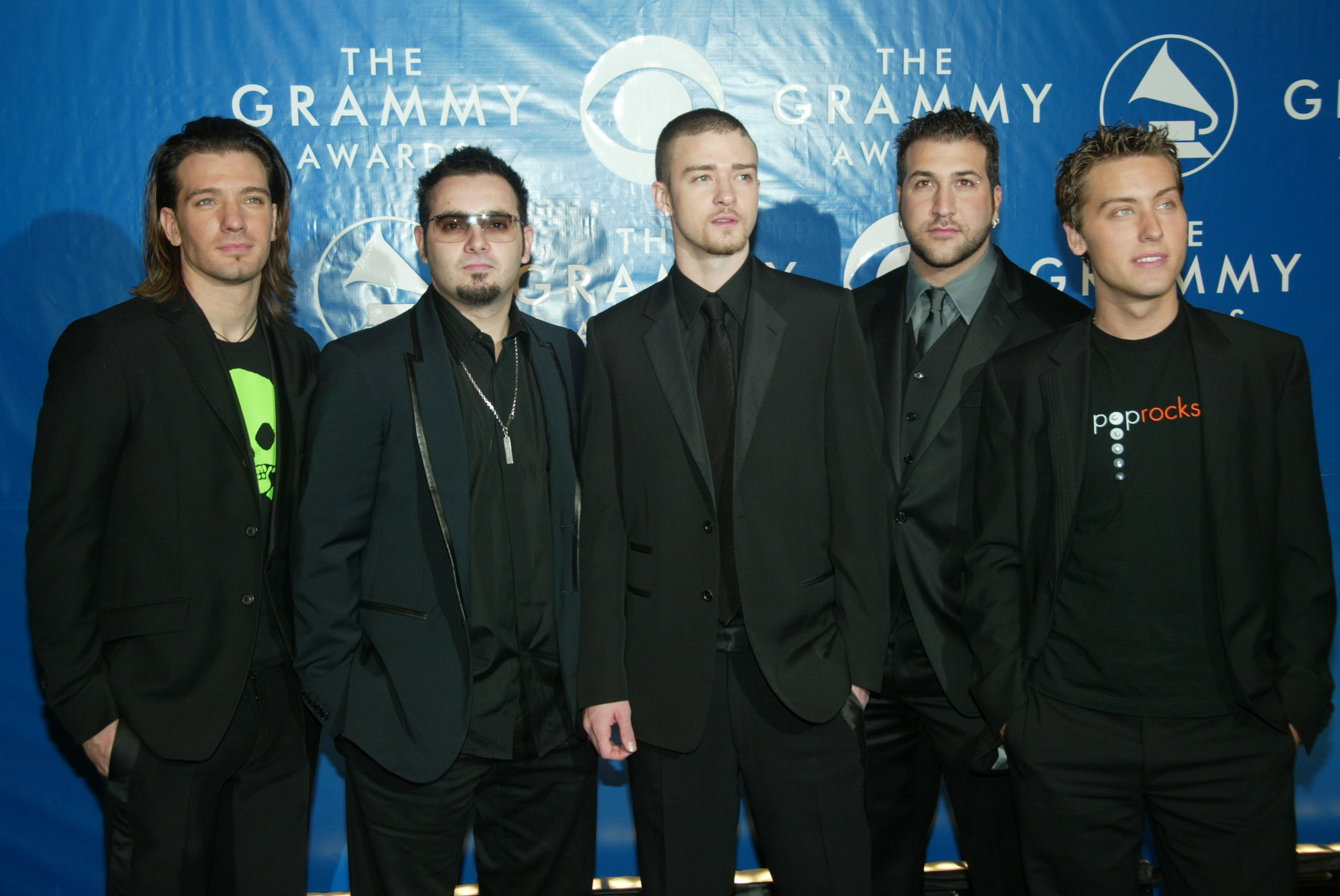 NEW YORK - FEBRUARY 23:  'N SYNC attends the 45th Annual Grammy Awards at Madison Square Garden on February 23, 2003 in New York City.  (Photo by Evan Agostini/Getty Images)
