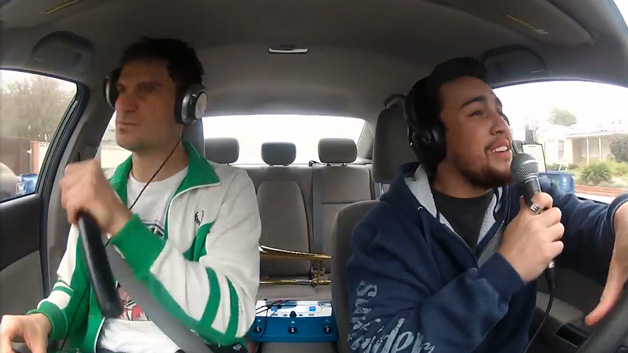 Watch these guys creatively cover No Diggity in a Honda Civic