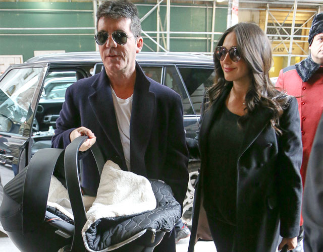 Simon Cowell leaves hospital with baby Eric