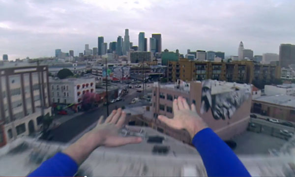 Superman POV fly video with GoPro over Los Angeles, California.