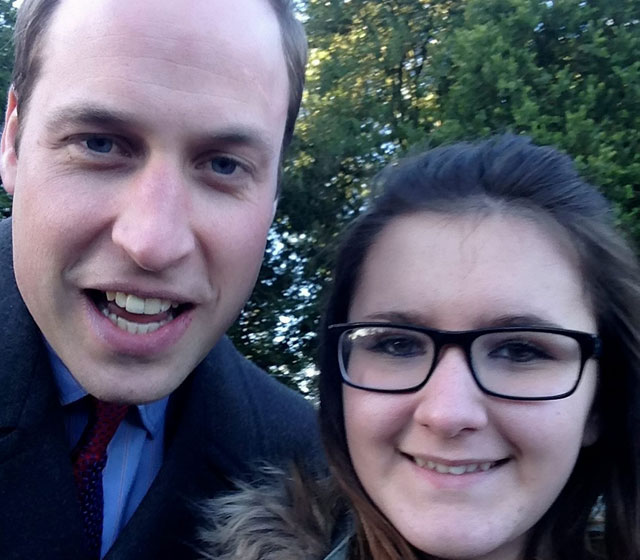 Prince William selfie