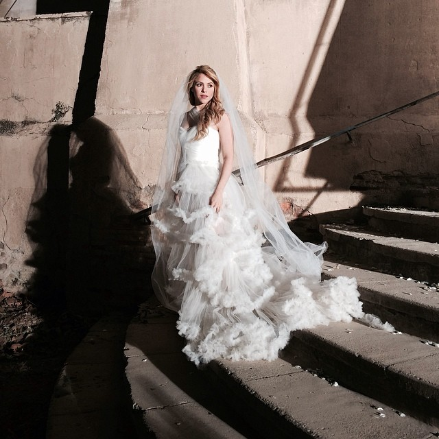 shakira posts picture in wedding dress on instagram