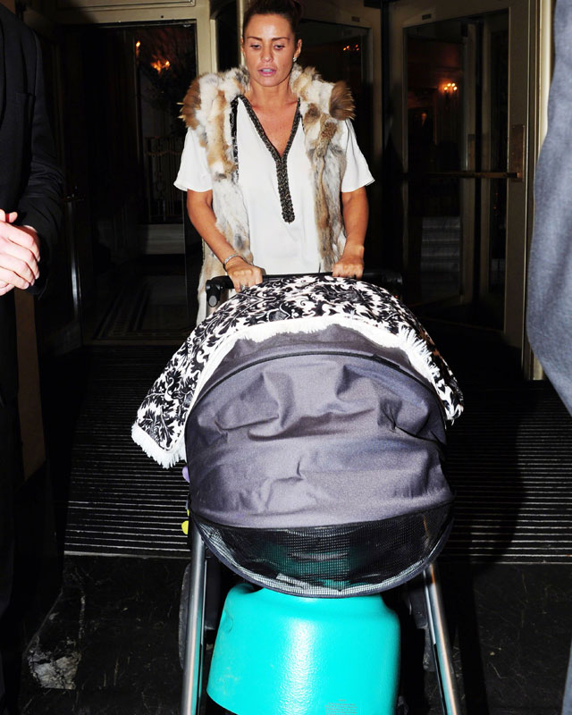 Katie Price with baby Jett