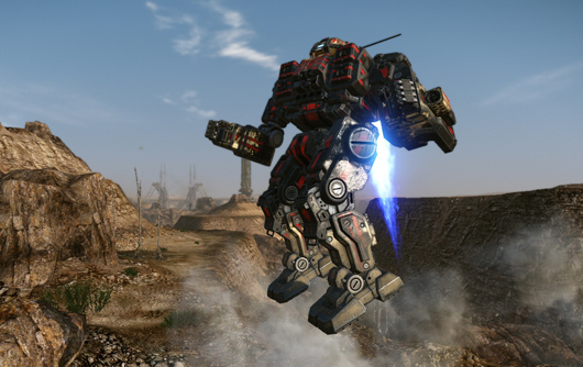 MechWarrior jump-jetting