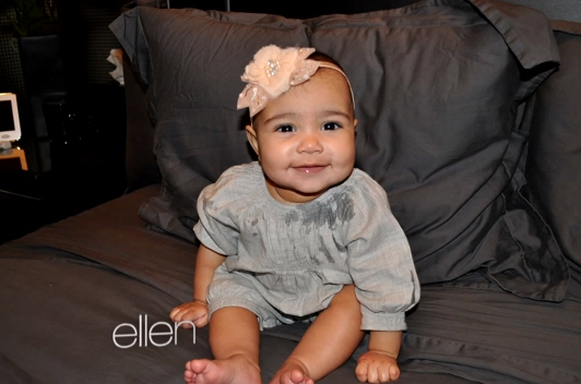 Kim Kardashian new Baby North West pics on Ellen DeGeneres