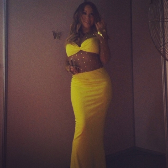 Pic of bright yellow bra dress on instagram the huffington post