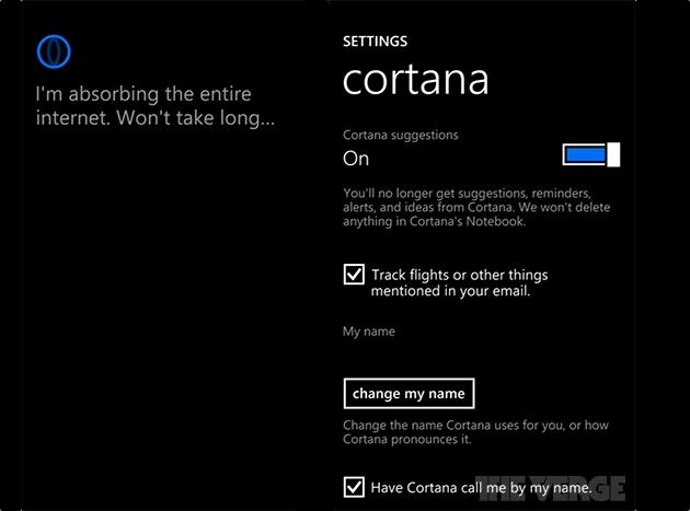 Leaked screenshots reveal Cortana, Microsoft's digital assistant for Windows Phone