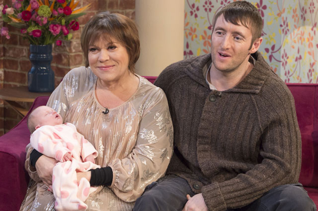 Tina Malone and baby Flame