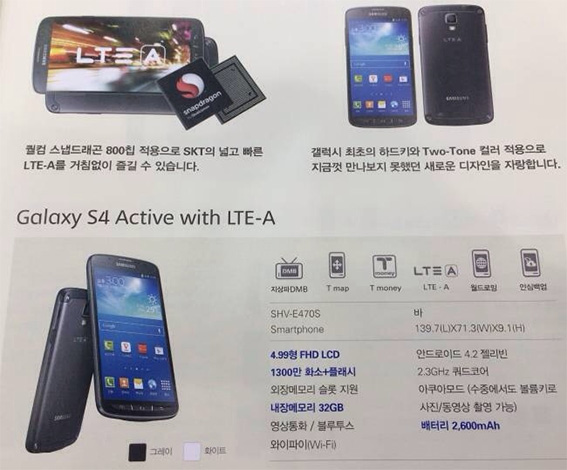 South Korea may get a Galaxy S4 Active with LTE-A, processor and camera upgrades