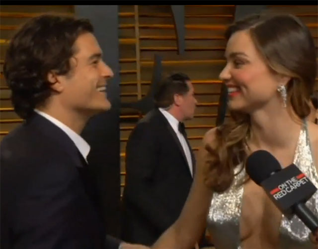 Miranda Kerr and Orlando Bloom at the Vanity Fair Oscars after party