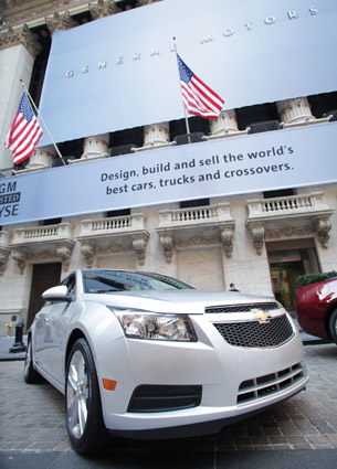 GM listed on NYSE