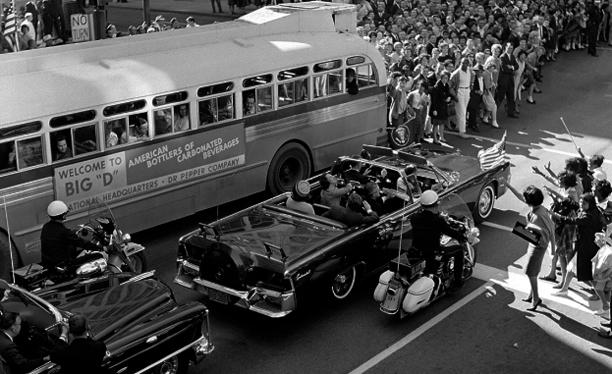 The motorcade of President Kennedy.